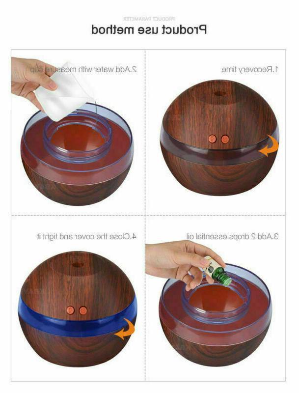 300ML Ultrasonic Humidifier Oil Diffuser