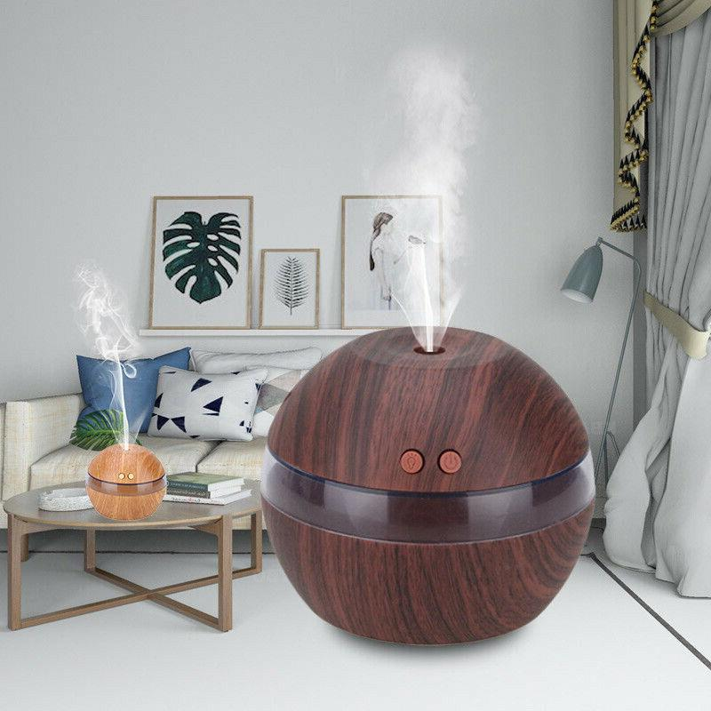 300ml usb ultrasonic air humidifier aroma essential