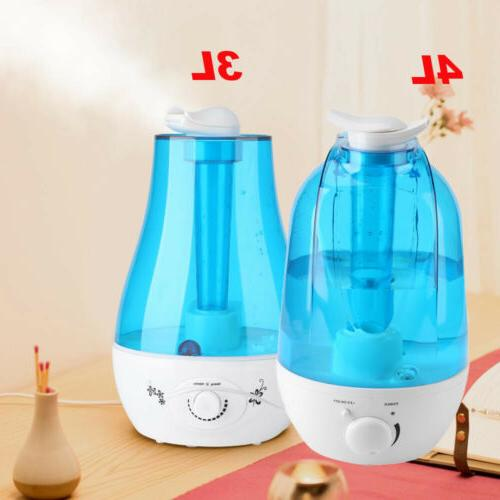 Ultrasonic Cool Mist Humidifier 3L 4L Portable Home Office R