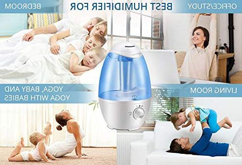 3L Ultrasonic Humidifier Best Air Humidifiers for with Night Large - Shut Off and Filter-Free - YEAR WARRANTY