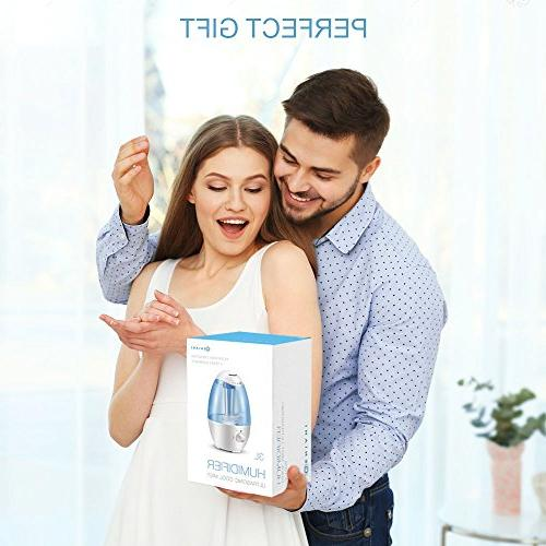 3L Ultrasonic Humidifier - Best Humidifiers Bedroom/Living with Night Whole Large 3L Water - Auto Shut and Filter-Free YEAR