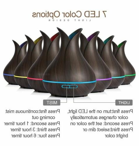 400ml Aroma Oil Diffuser Ultrasonic Humidifier remote