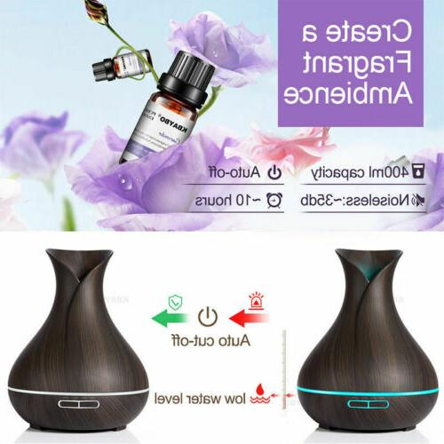 400ml 7LED Aroma Oil Ultrasonic Air Humidifier remote