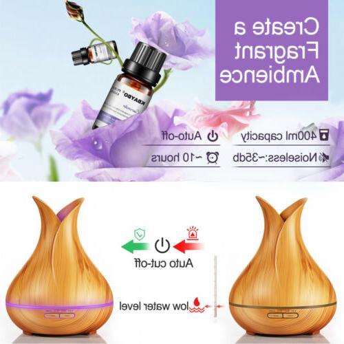 400ML 7LED Light Humidifier Air Aromatherapy Atomizer