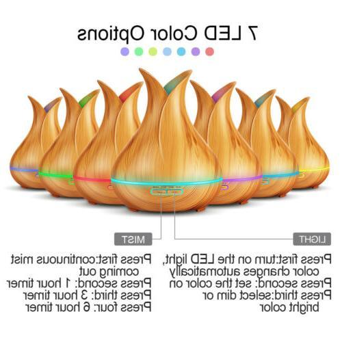 400ML 7LED Light Air Aromatherapy