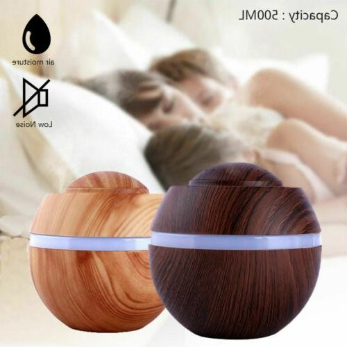 7 LED 500ml Essential Oil Humidifier Aroma Air Aromatherapy