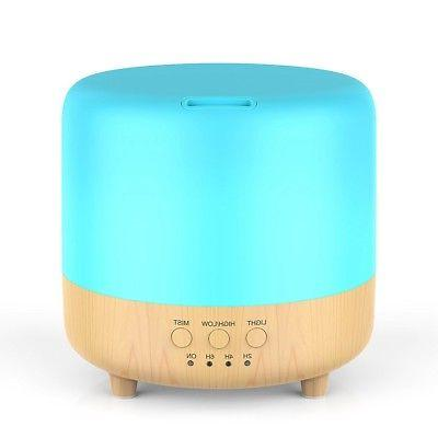 500ml 7 LED Essential Oil Humidifier Aroma Aromatherapy
