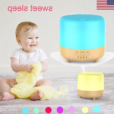 500ml 7 led essential oil humidifier aroma