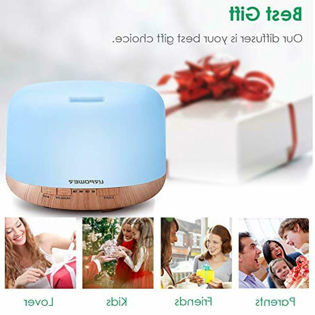 URPOWER Oil Diffuser Humidifier Decor Lighting