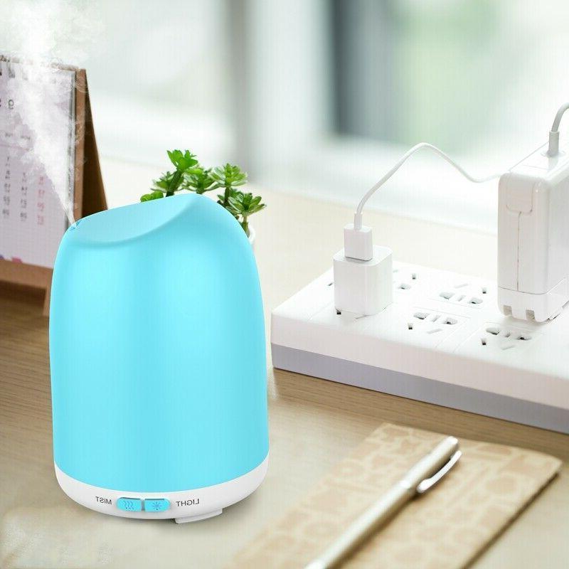 LED Oil Diffuser Fountain Air Humidifier