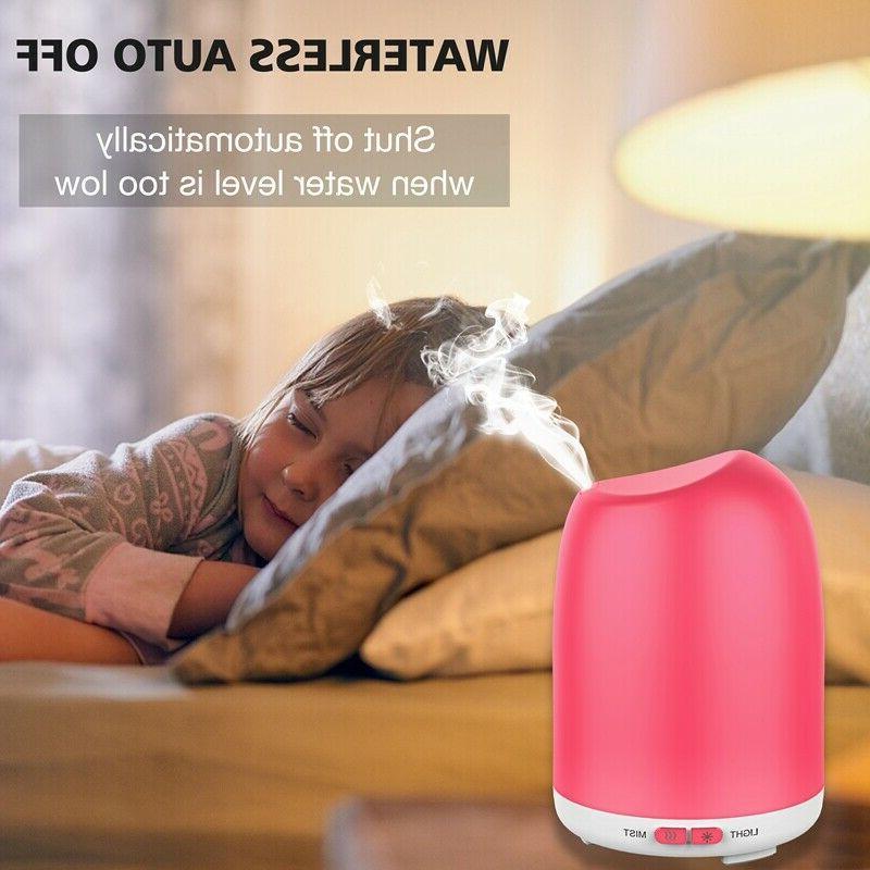 LED Ultrasonic Oil Diffuser Fountain Air Humidifier