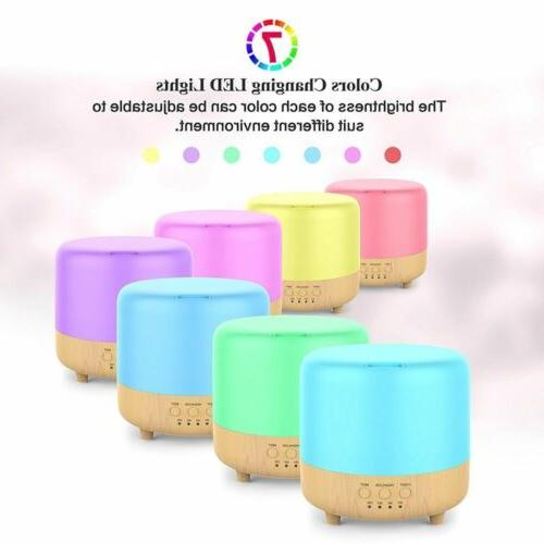 500ml LED Ultrasonic Essential Oil Diffuser Air Humidifier