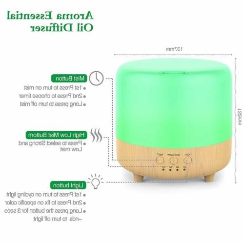 500ml Ultrasonic Essential Oil Diffuser Fountain Air Humidifier
