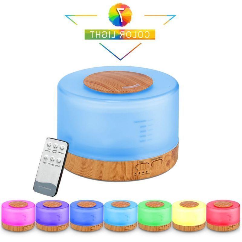 500ml Control Ultrasonic Humidifier Diffuser Aromatherapy