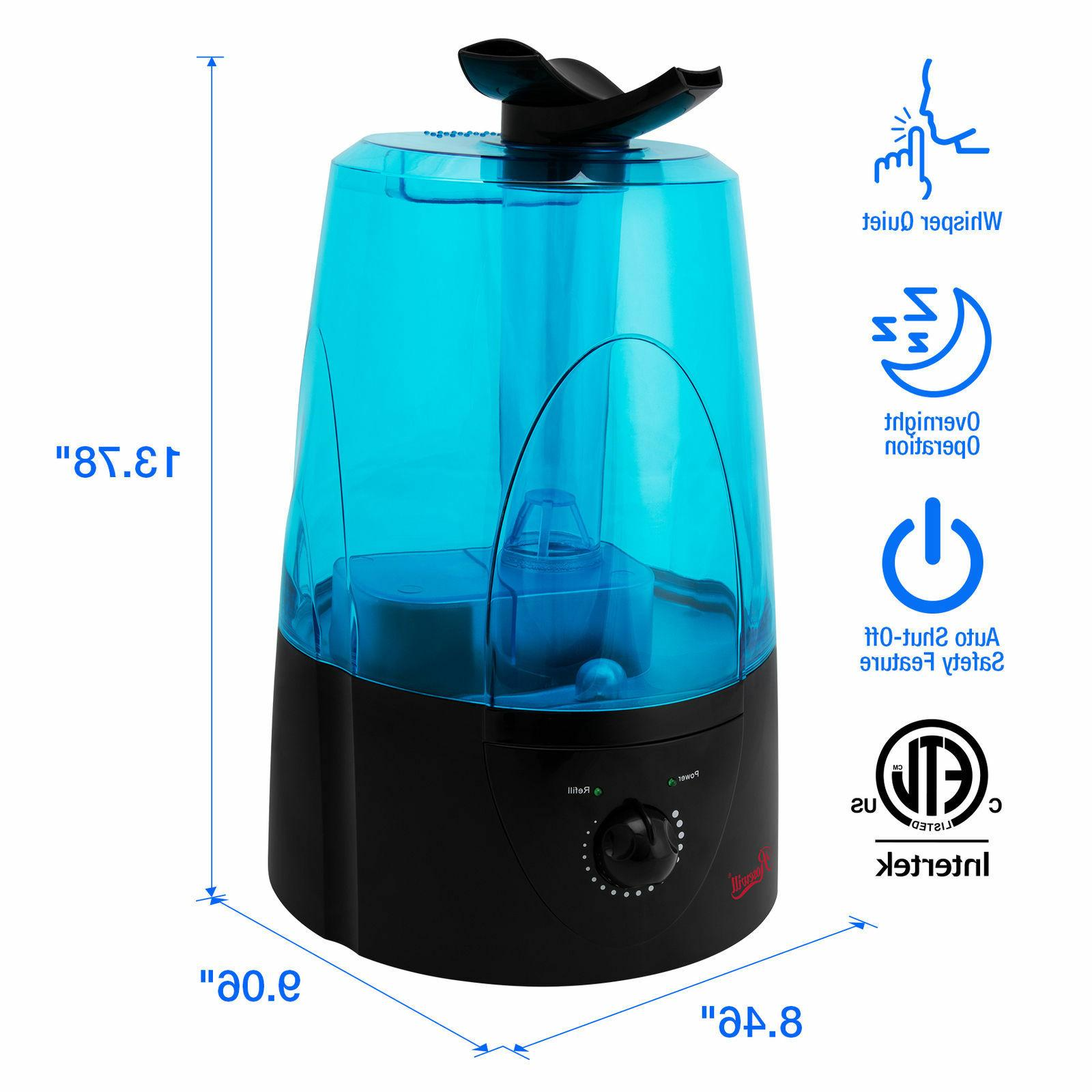 Ultrasonic Cool Dual Mist Humidifier, quiet, filter free, au