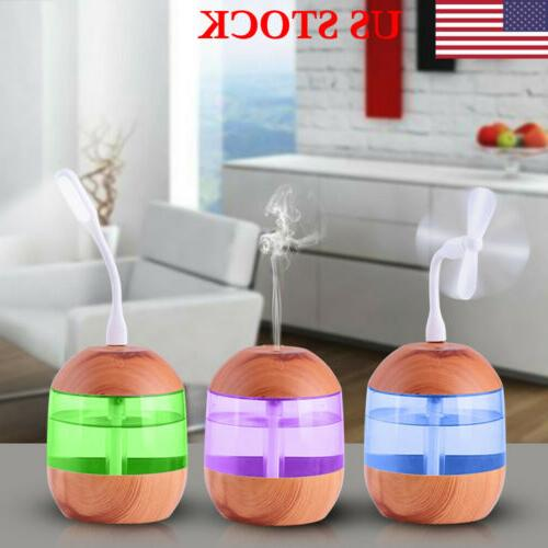 700ml usb ultrasonic humidifier essential oil diffuser