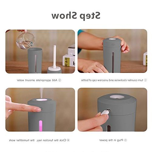 9Oine Cool Humidifier,No Noise Ultrasonic Purifier 7 Color LED Changing Office Bedroom Babies Kids Cars