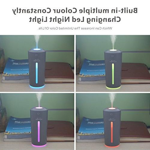 9Oine Cool Mist Humidifier,No Noise Ultrasonic Humidifier 7 LED Changing Babies