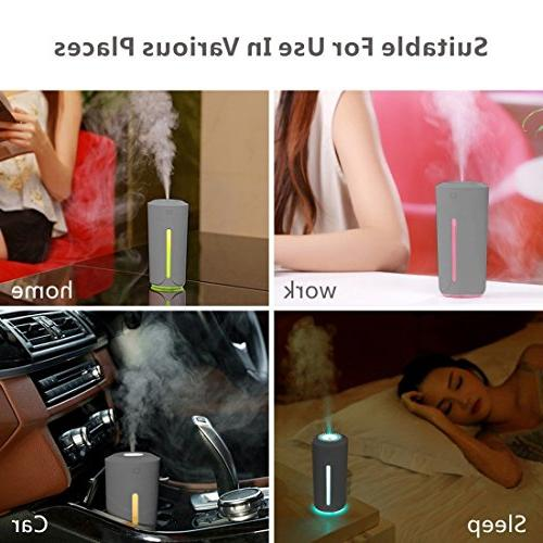 9Oine Cool Humidifier,No Noise Ultrasonic 7 Color Lights Changing Mini Office Desk Babies