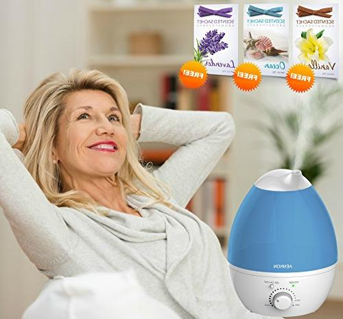 Aennon Cool Mist 2.8L Ultrasonic 20 7 Color Auto Shut-Off for Bedroom Baby Room