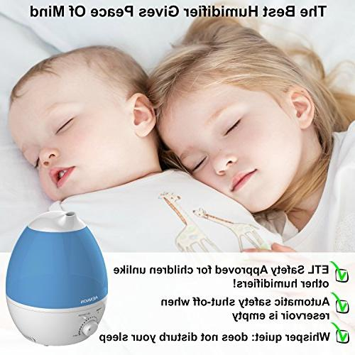 Aennon Cool Mist 2.8L Ultrasonic Humidifiers for 20 7 Color Auto Shut-Off for Bedroom