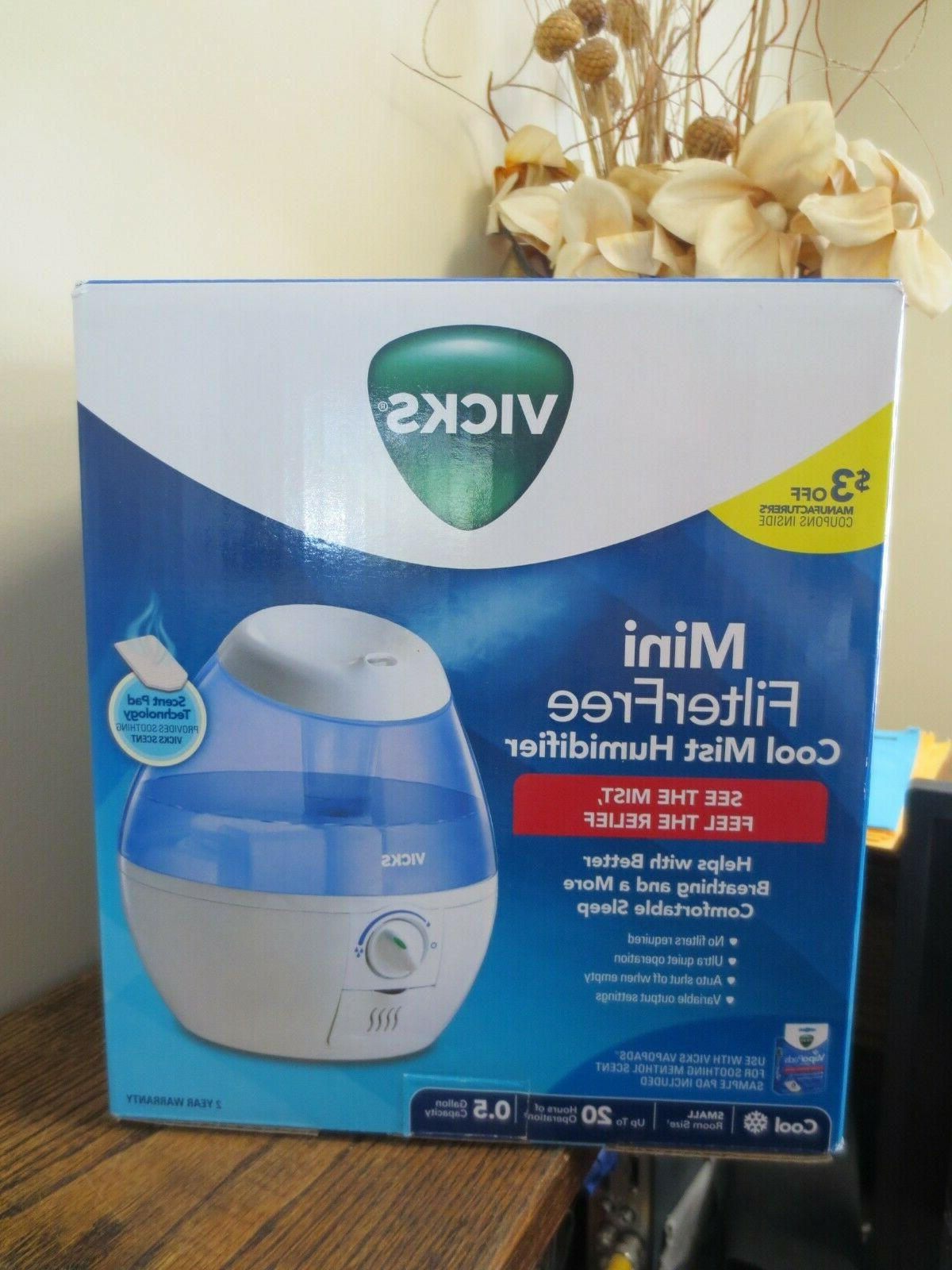 Vicks Mini Filter Free Cool Mist Humidifier Small Humidifier