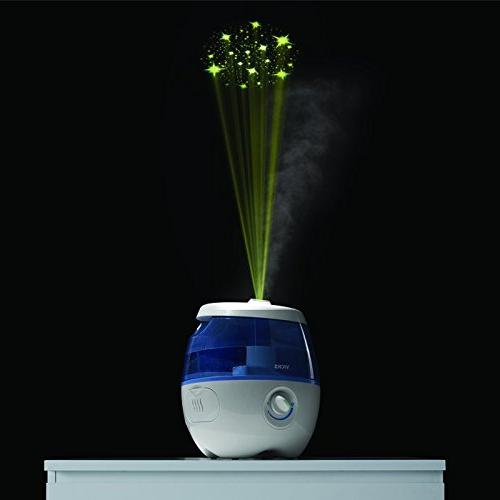 Vicks Sweet Cool Mist Humidifier Blue Humidifier for Baby, Kids Rooms, Auto-Shut Off, 0.5 Tank for 20 Air, Use VapoPads