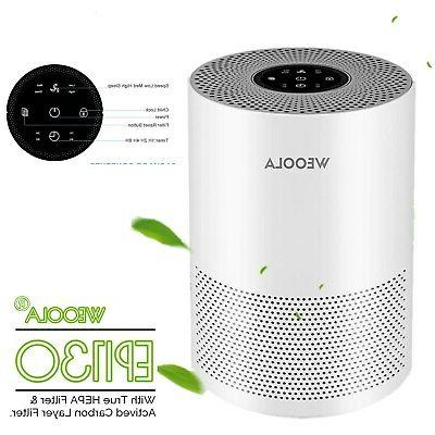WEOOLA Air Purifier for Home True HEPA Filter, Ultra Quiet A