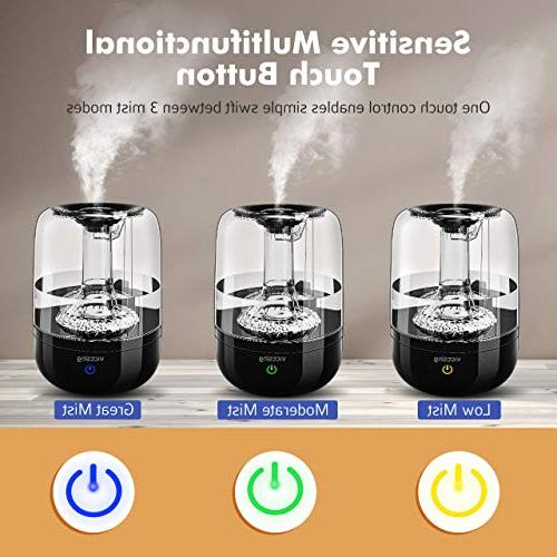 VicTsing Filter Impurities 3L Ultrasonic Vaporizer Humidifying Unit Whisper-Quiet Protection