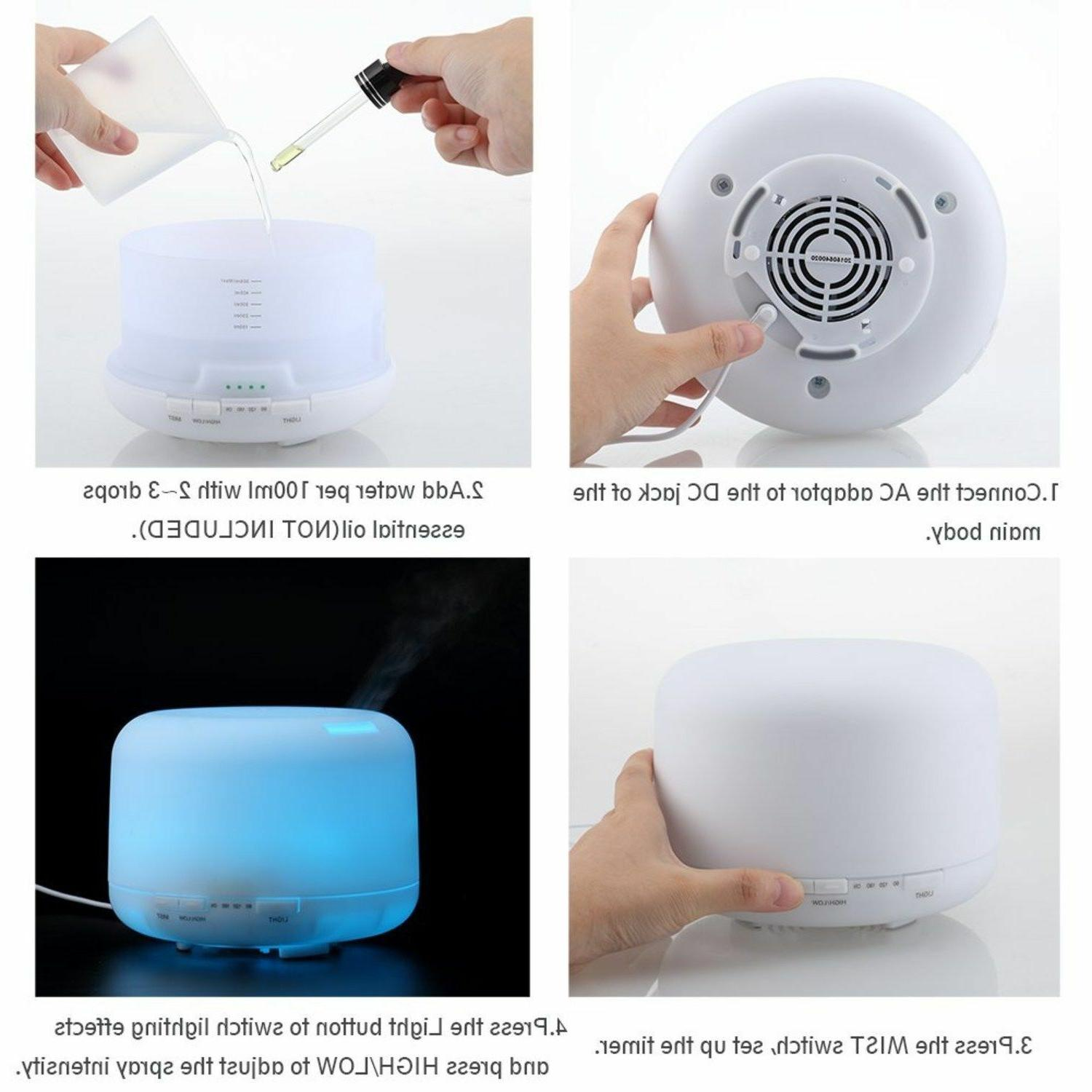 URPOWER Essential Diffuser Humidifier Baby Oil