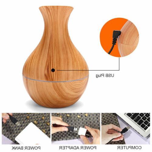 Aroma Oil Wood Aromatherapy Humidifier 130ML