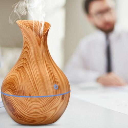 Aroma Essential Diffuser Wood Aromatherapy Humidifier