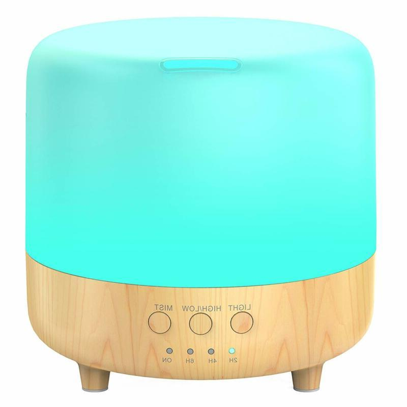 aromatherapy diffuser for oils wood grain ultrasonic