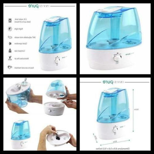 compact wave humidifier nursery bedroom bedside cool