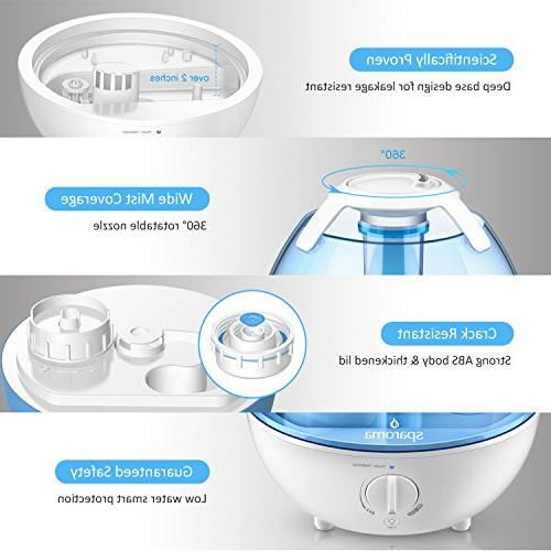 Cool Mist Ultrasonic for Mist High Mist Levels, Lights, Free