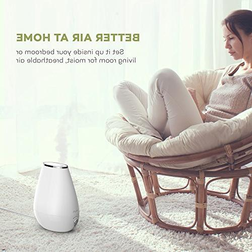 VAVA Space-Saving Ultrasonic Humidifiers Bedroom Babies Nursery, Whisper-Quiet, Filter Free, Automatic 360°