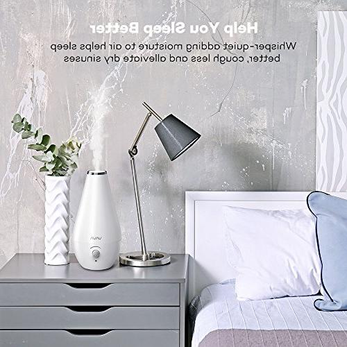 VAVA Humidifier, Space-Saving Bedroom Whisper-Quiet, Filter Free, Automatic Shut-off, 360° Nozzle -