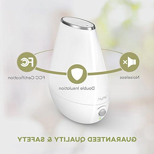 VAVA Space-Saving Ultrasonic Bedroom Babies Nursery, Filter Automatic 360° Nozzle