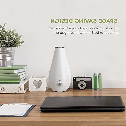 VAVA Cool Humidifier, Space-Saving Ultrasonic for Filter Automatic 360°