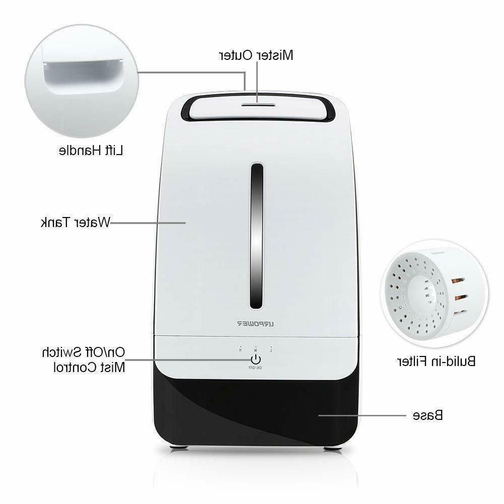 Cool Mist Ultrasonic Whisper-Quiet Operation Adjustable Mist Mode