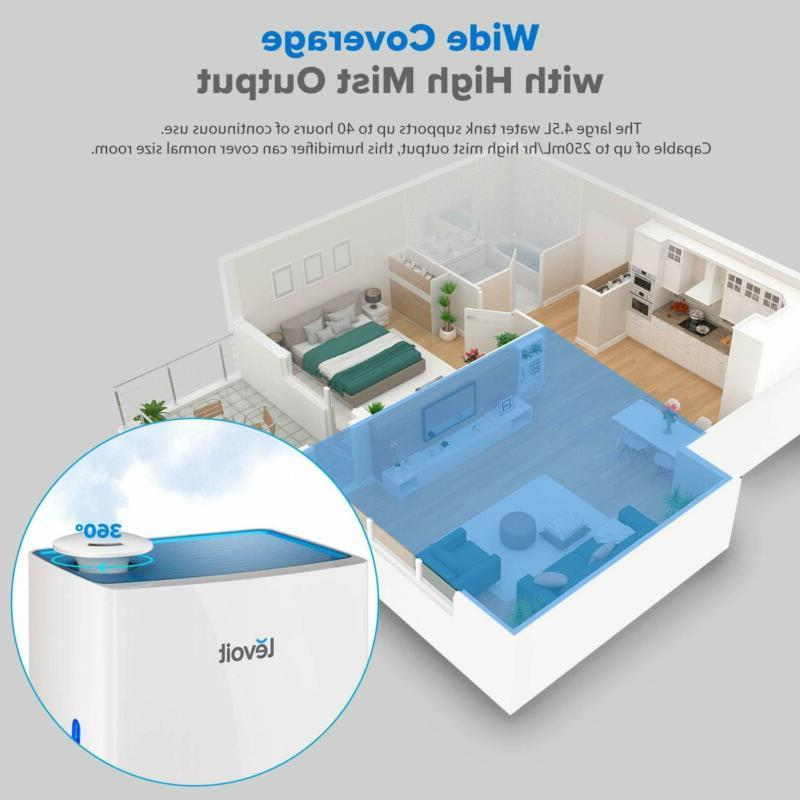 Levoit Cool Mist Humidifier For Bedroom, 4.5L Ultrasonic Air