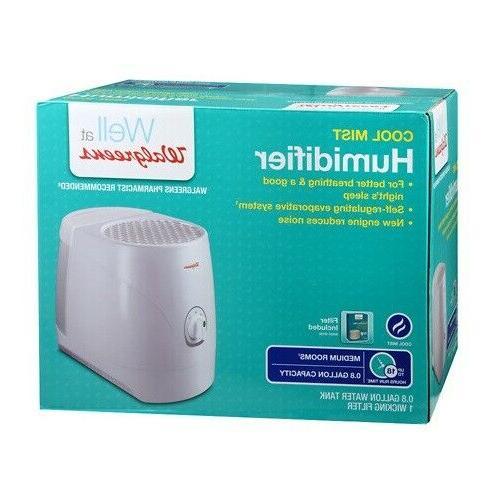 Cool Mist Humidifier Walgreens 18 HR Run Time 0.8 Gallon Fil