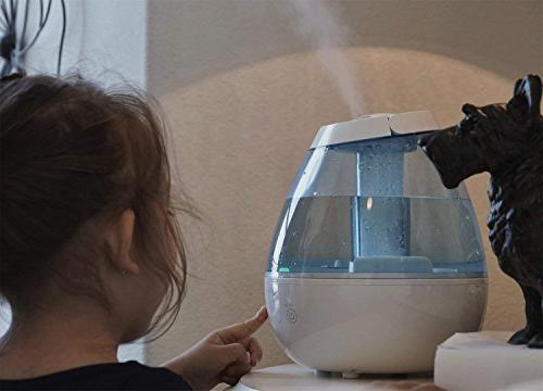 Tekjoy Cool Premium Humidifiers 7 Night Light Quiet, Nozzle, Touch Filterless Lasts Hours