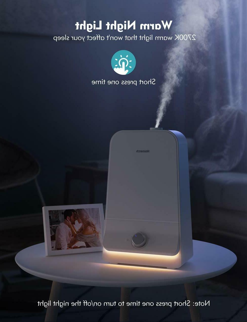Homech Mist Quiet Ultrasonic Humidifier Bedroom,