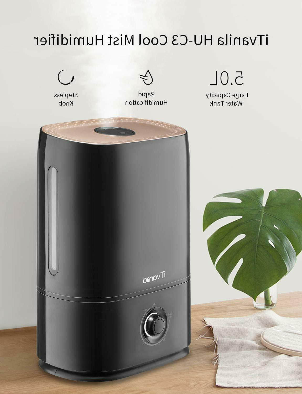 iTvanila 5L Humidifier Bedroom Large Room