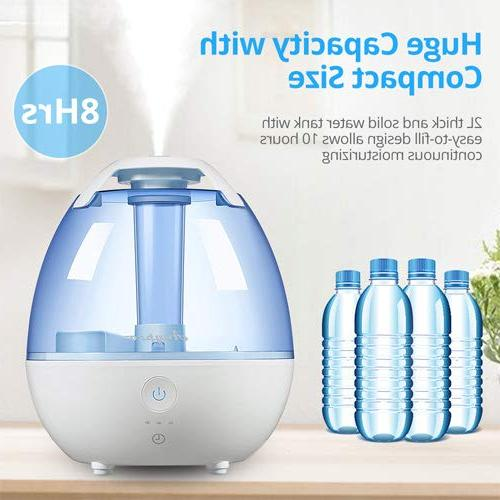 Anypro Cool Mist Humidifier for with Automatic Light Settings