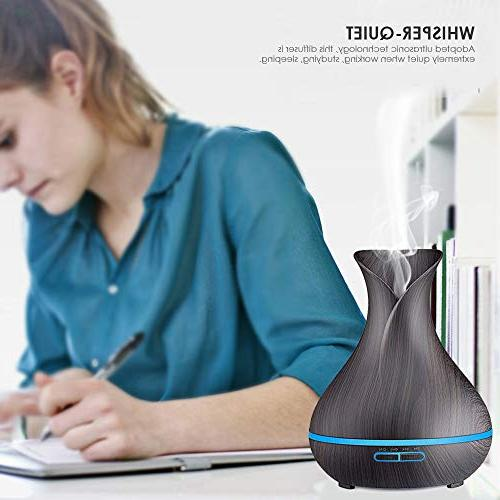 URPOWER Essential Diffuser, 400ml Diffuser Ultrasonic Humidifier Auto Office Room Yoga