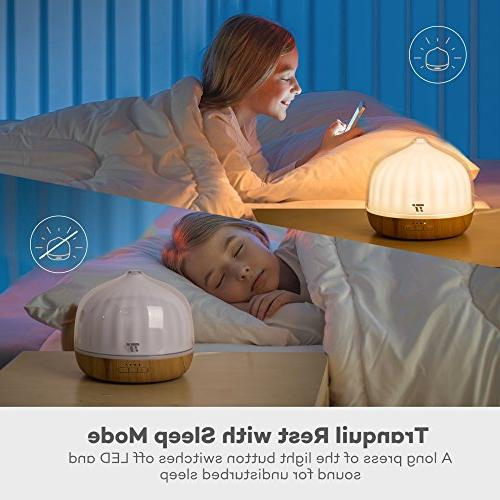 500mL Diffusers for Oils, TaoTronics 20 ft, Grain Base, Cool Humidifier for Kids, Mode, &