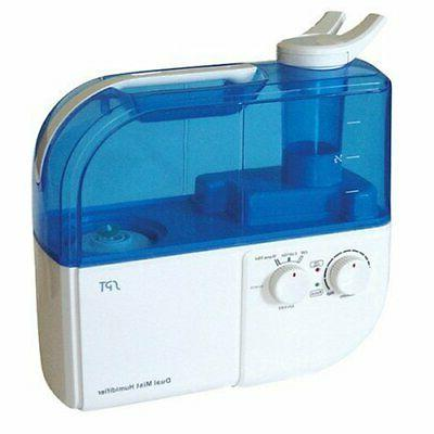 dual mist ultrasonic humidifier warm cool blue