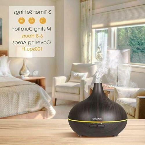VicTsing 150ml Aroma Wood Grain Humidifier